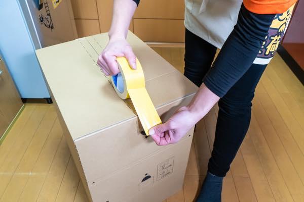 新居に引っ越してすぐ使用したいものは黄色テープ(又は赤字)にします。